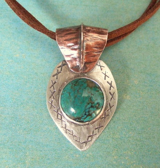 SueLacy Designs-foldform-sterling-silver-copper-turquoise